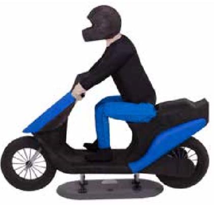 4A主动安全测试假人:踏板车